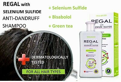 REGAL SELSON ANTI-DANDRUFF SHAMPOO FOR ALL HAIR TYPES with Selenium Sulfide