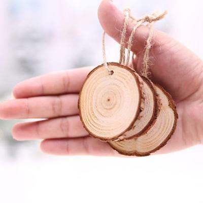 10pcs DIYs Unfinished Natural Round Wood Slices Circles Discs  UK UK