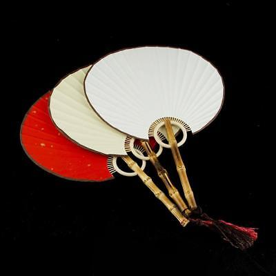 Vintage Bamboo Folding Hand Flowers Fan Chinese Dance Party Gift UK