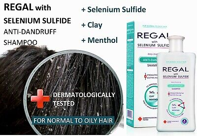 REGAL SELSON ANTI-DANDRUFF SHAMPOO FOR NORMAL TO OILY HAIR with Selenium Sulfide