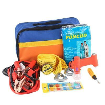 9 pc / Pieces Car Breakdown Emergency First Aid Roadside Kit Set HOT
