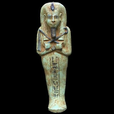 VERY LARGE EGYPTIAN HIEROGLYPHIC SHABTI,  664 - 332 BC 31.5cm High!!!! OVER 2KG