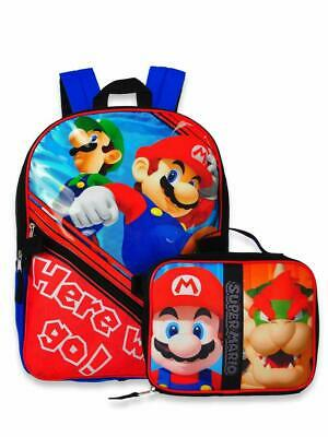 "Super Mario All Over Print Black 16"" Full Size Backpack"