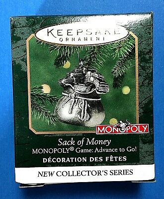 "Hallmark Keepsake ""Sack of Money"" Miniature Ornament 2000"