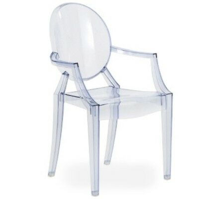 Philippe Starck Ghost Louis Chair, Ice blue.
