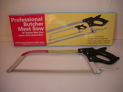 "19"" Butchers saw, meat, fish, bone, deer saw top quality stainless steel"