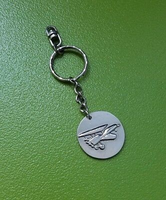 AIRPLANE KEYCHAIN SINGLE Engine Propeller Aircraft Spin Prop Pilot Gift  Plane