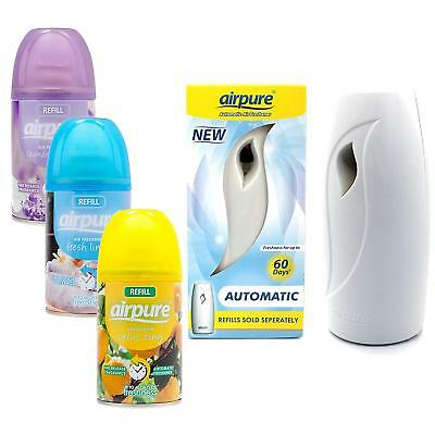 Airpure Automatic Air Freshener Machine with 2,4,6 OR 12 Refills random flavour