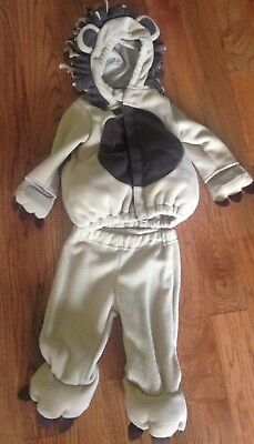 Old Navy Warm Thick Lined Lion Costume Halloween Dress Up Babies 6-12 Months EUC