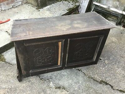 Very Old Wooden Chest - Parts Restoration, Spares