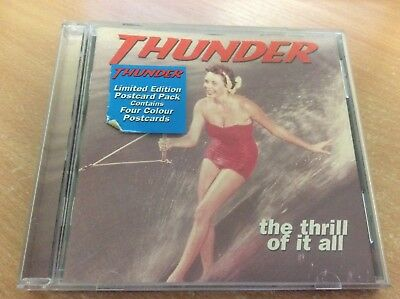 Thunder - The Thrill Of It All (CD 1996) (NO POSTCARDS) CD ALBUM MB9