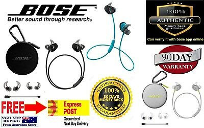 bose soundsport wireless headphones 100% genuine guarantee
