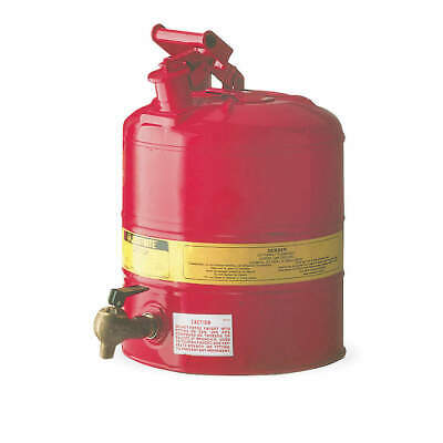 JUSTRITE Type I Faucet Safety Can,5 gal.,Red, 7150140