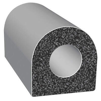 TRIM LOK INC EPDM Rubber Seal,D-Section,0.38 In W,25 Ft, X105HT-25