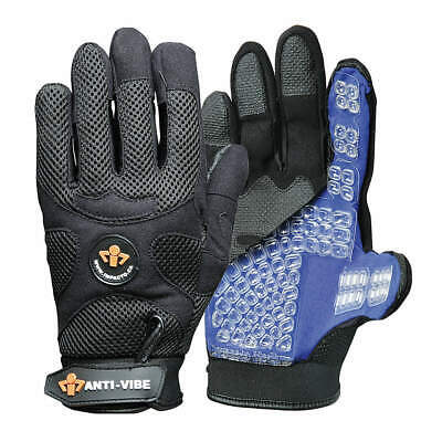 IMPACTO Anti-Vibration Gloves,Full,L,PR, US40840, Black