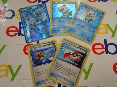 Pokemon Trading Cards- Lot of 5- All Holo- 2 Trainer Cards- 3 Pokemon- Played