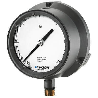 ASHCROFT Pressure Gauge,0 to 300 psi,4-1/2In, 451379SSL04L300#