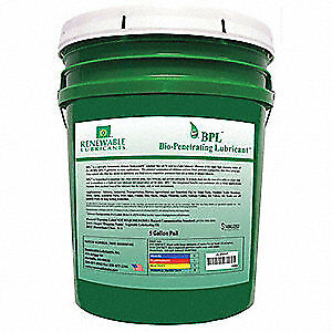 RENEWABLE LUBRICANTS Penetrating Lube,Biodegradable,5 Gal, 80004