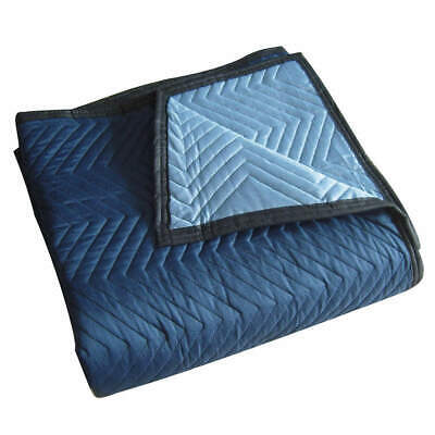 GRAINGER A Cotton/Poly Woven Quilted Moving Pad,L72xW80In,Blue,PK12, 2NKT3, Blue