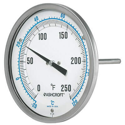 ASHCROFT Dial Thermometer,Silicone Dampening, 50EI60R
