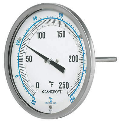 ASHCROFT Dial Thermometer,1 Percent Acc, 50EI60R