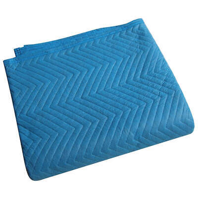 GRAINGER A Cotton/Poly Woven Quilted Moving Pad,L72xW80In,Blue,PK12, 2NKR9, Blue