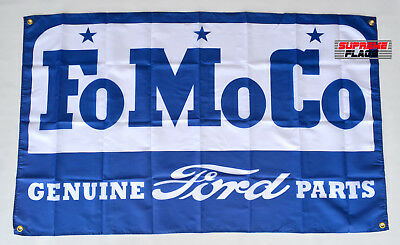 FoMoCo Flag Banner 3x5 ft Ford Motor Company Genuine Parts