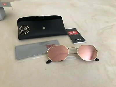 12296008964 RAY-BAN OCTAGONAL FLAT Lenses Metal Frame Sunglasses RB3556 ...