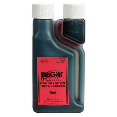 KINGSCOTE Color Coding Dye,Red,4 oz., 506250-R4, Red