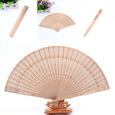 Fragrant Sandalwood Hand Fan Wooden Scented for Wedding Party Gift Lady Men