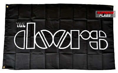 The Doors Flag Banner 3x5 ft Rock & Roll Band Wall Garage Black