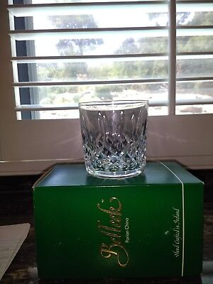 7 WATERFORD LISMORE Crystal Cut Glass 9 oz. Old Fashioned Tumblers