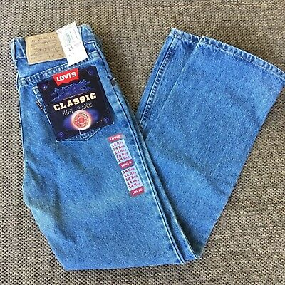 Levis Classic 505 Blue Jeans 27 x 27 Orange Tab Youth 14 Reg USA NWT Old Stock