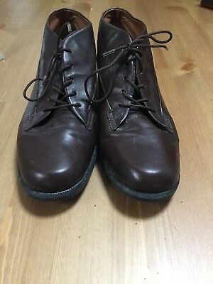 Easy Spirit Women's 5.5 B Brown Leather Lace-Up Ankle Boot/Bootie Oxford Vintage