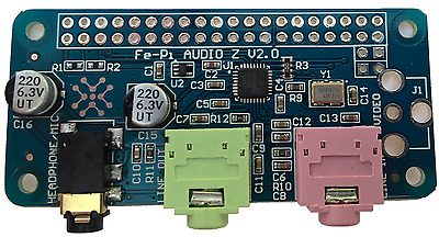 Fe-Pi Raspberry Pi Zero 2 3 B+ Audio Sound Card Module I2S