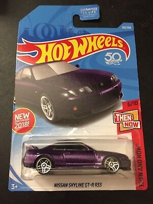 RARE JDM Nissan Skyline GTR R33 Hot Wheels (PURPLE) 1/64 Scale Diecast Car ADVAN