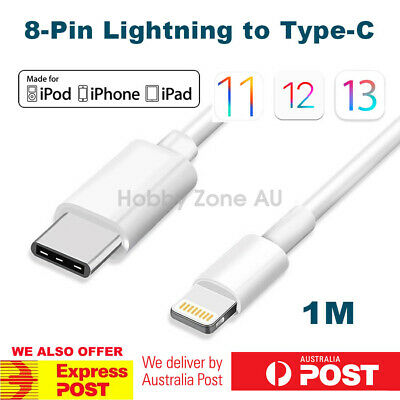 USB C USB 3.1 Type C Male to Lightning 8 Pin Data Cable for Macbook iPhone 1M