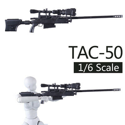 1:6 1/6 Scale TAC-50 Sniper Rifle Model Gun Weapon for Soldier Action Figure Toy