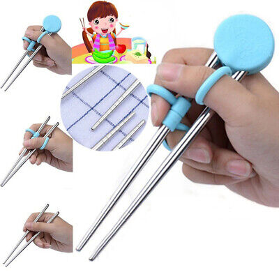 Cartoon Enlightenment Learning Stainless Steel For Kids Training Chopstick