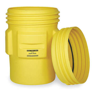 EAGLE Overpack Drum,Open Head,95 gal.,Yellow, 1690