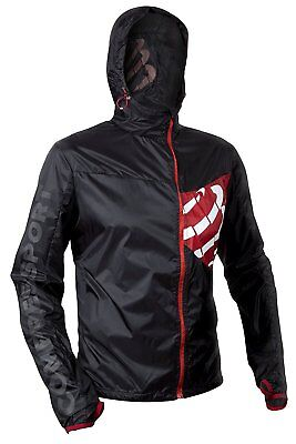 Compressport Mens Trail Hurricane Storm Protect Running Jacket, Black