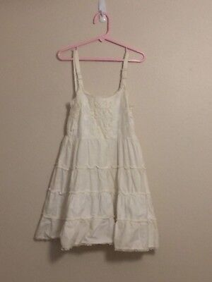 "Vintage Girl's ""A STONES WEAR ORIGINAL"" White Full Slip with Embroidered Top"