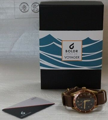 NEW BOLDR Voyager - Caspian Brown NH35A automatic watch w/ Warranty - Root Beer