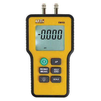 UEI TEST INSTRUMENTS Dual Differential Input Manometer,9V, EM152