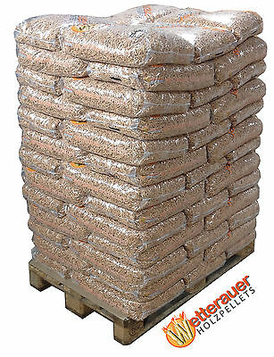 975 kg | Wetterauer Holzpellets | 65 Sack Pellets Sackware - top Pelletspreise