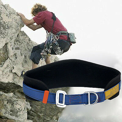 Safety Rock Climbing Fall Protection Waist Belt Harness Equip with D-Ring Gift