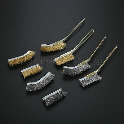 New Steel Wire Brush Abrasive Deburring Polishing Cleaning Metal Rust Paint Tool