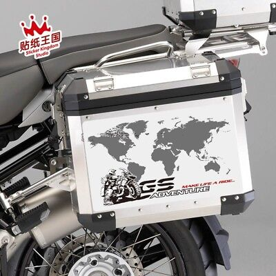 BMW R1200GS ADV Rally Adventure F800GS Motorrad Side Top Panniers Decal Sticker