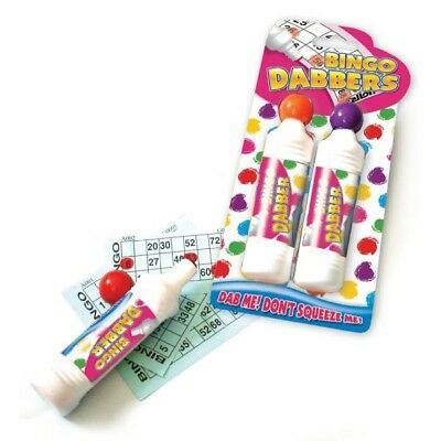 Brand New Pack of 2 Bingo Dabbers Marker Pens Assorted Colours Red and Blue