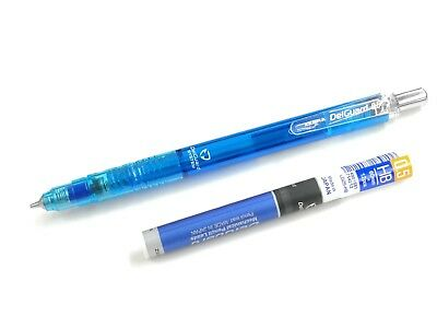 1 x Zebra MAZ84 DelGuard System Mechanical Pencil 0.5mm free leads, CLEAR BLUE